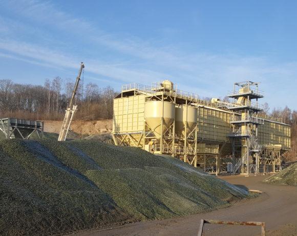 Stacja zasilania i sterowania dla instalacji transportu i składowania stłuczki szklanej (Rozet, Francja)